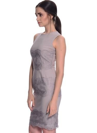 House Of Camellia Kolsuz Kısa Elbise Gri